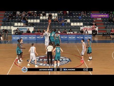 U18M - LIETUVOS RYTAS vs. REAL MADRID. Torneo Junior Tenerife 2017 (BasketCantera.TV)