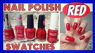 Favorite Red Nail Polish - Swatches || LaShenny21Nails