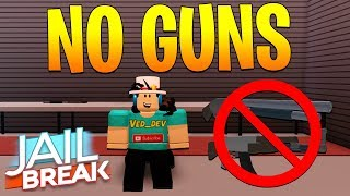 NO GUNS CHALLENGE IN JAILBREAK! *HARD* (Roblox)