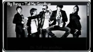 big bang tell me goodbye sing along simple romanized lyric mp4