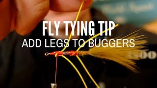 Tying Rubber Legs on Wooly Buggers Made Easy