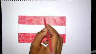 Very easy to drawing austrian flag.