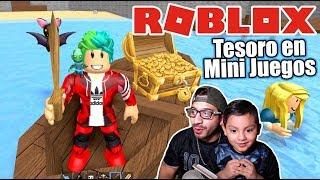 Buscando el Tesoro de Roblox | Mini Juegos Epicos en Roblox | Juegos Karim Juega