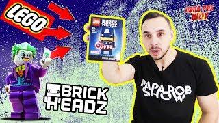 Папа РОБ и #БЭТМЕН Распаковка Капитана Америка #Lego BrickHeadz Сражение с Харли Квинн и Джокером