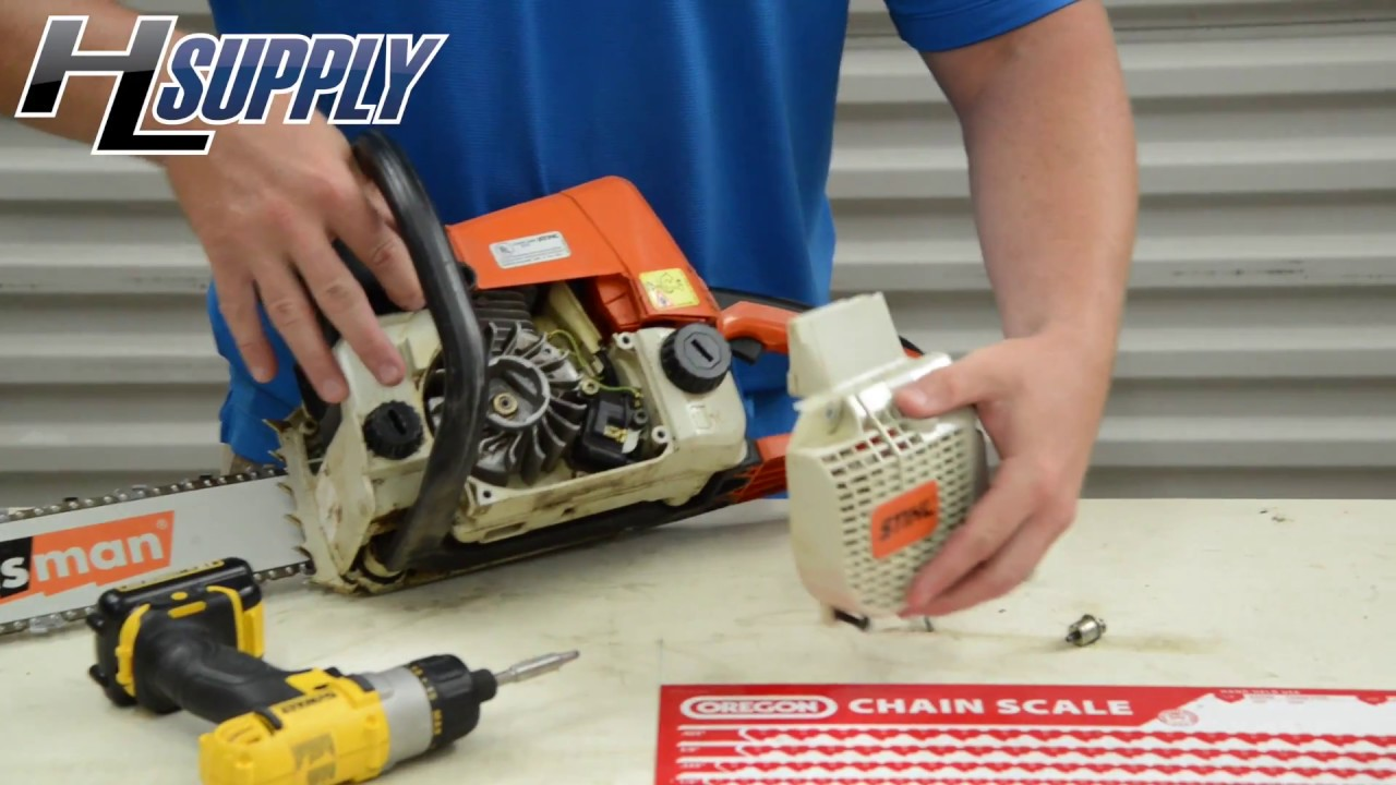 How to Replace a Starter Rope on a Stihl Chainsaw    The Easy Way by Bobby