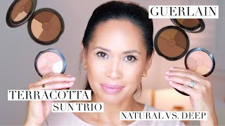 GUERLAIN I TERRACOTTA SUN TRIO I BEAUTIFUL! BUT WHICH SHADE? | NATURAL VS. DEEP I Everyday Edit