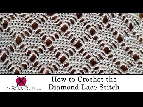 How to Crochet the Diamond Lace Stitch | Crochet Along