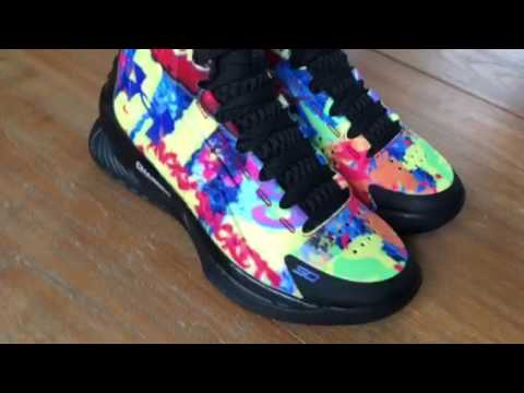 4ccf691bb59 UA ICON Curry 1 Custom Basketball Shoes Unboxing - YouTube