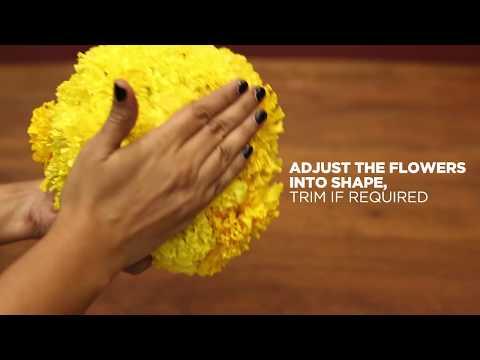 Diwali DIY Decor: Floral Balls