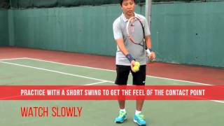 tennis one handed backhand topspin technique lesson