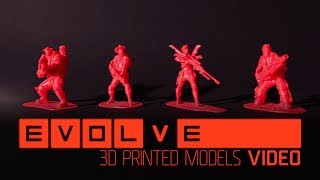 Evolve --3D Printed Character Models(Make your own 4v1 with Evolve printable 3D models. Choose your character and download the 3D print files at EvolveGame.com Instructions here: ..., 2014-07-09T15:00:03.000Z)
