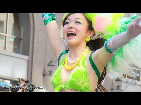 元気がでるサンバ☆ 華やかな神戸サンバチーム2 神戸まつり2018