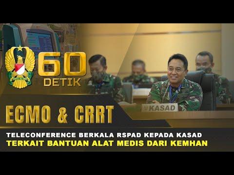 Teleconference Kasad Bersama RSPAD Terkait Bantuan Alat Medis Dari Kemhan I 60
