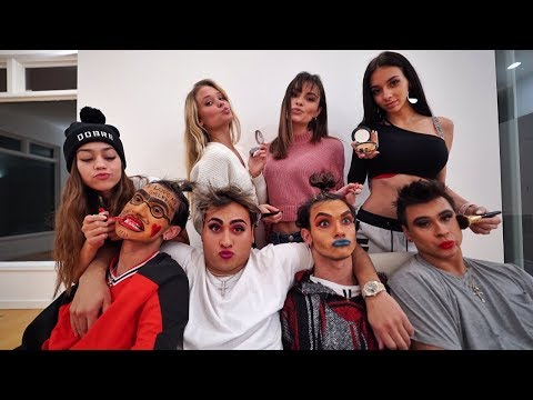 HOT GIRLS DO OUR MAKEUP! thumbnail