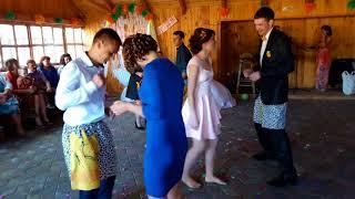 Конкурс с трусами на свадьбе. Свадьба Овруч 2016. Wedding contest.