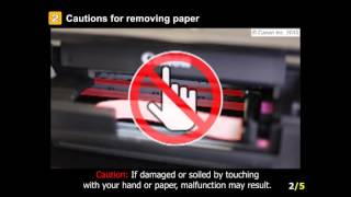 PIXMA MG5722: Removing a jammed paper from inside the printer