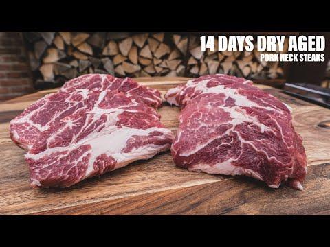 I DRY AGED pork STEAKS for FOURTEEN days