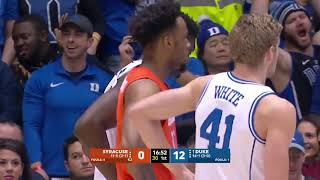 Syracuse vs Duke   NCAA Basketball 2019   14 01 2019