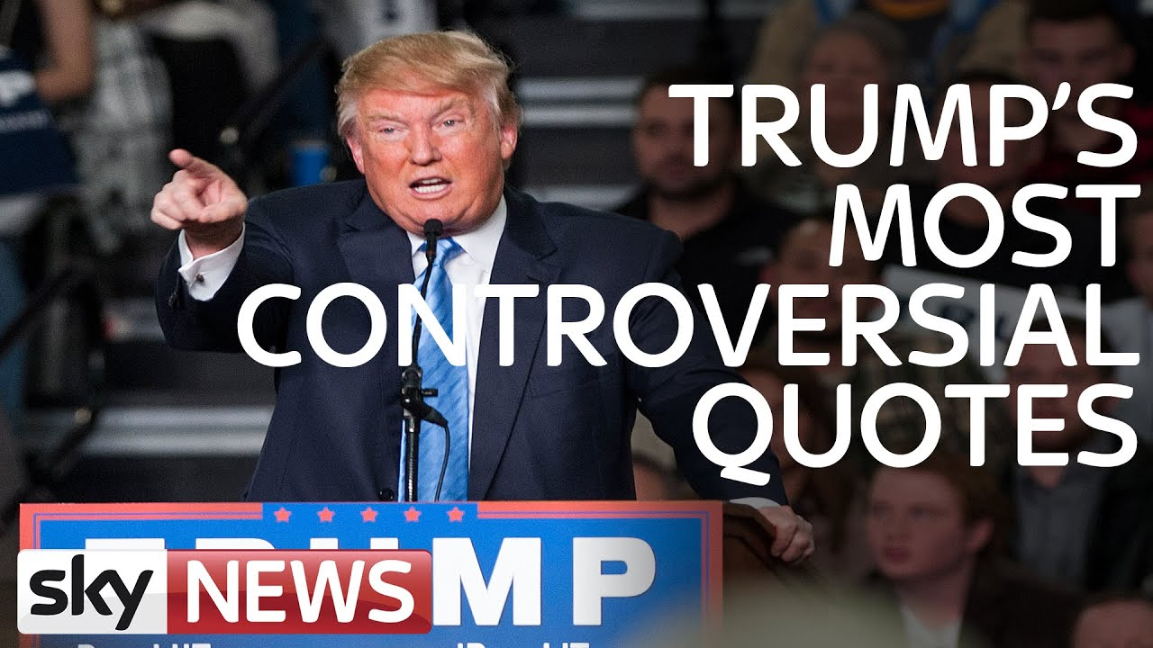 Funny Donald Trump Quotes Donald Trump Controversial Quotes And Polling Numbers  Youtube