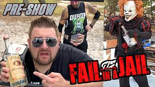 Can GRIM Get SOBER For BARBED WIRE STEEL CAGE MAIN EVENT? FAIL IN A JAIL KICKOFF SHOW