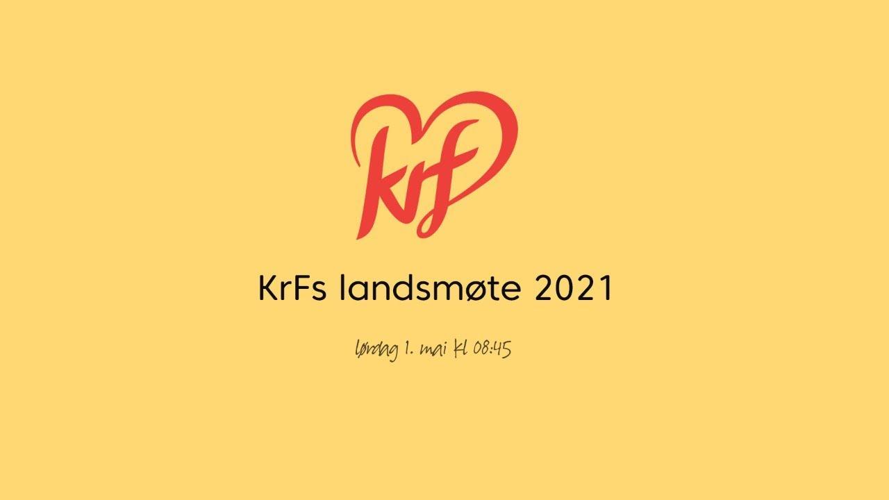 Følg KrFs landsmøte lørdag 1. mai
