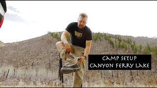 Camping Setup in Montana Big Sky Country - Canyon Ferry Lake