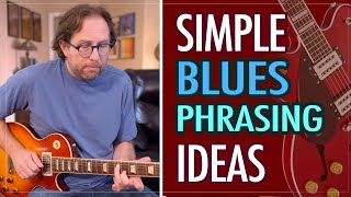 Simple ways to improve your blues phrasing when improvising on guitar - Blues guitar lesson EP420