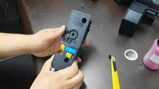 교세라 P5021CDN M5521CDN 카트리지 파우더 넣기