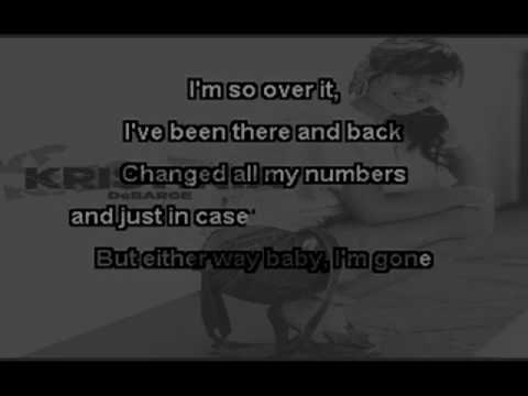 Kristina DeBarge - Goodbye (Kareoke)