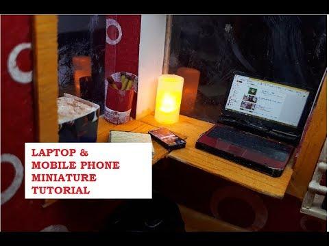 DIY LAPTOP AND MOBILE PHONE MINIATURE TUTORIAL