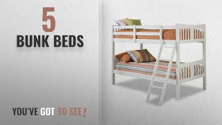 Top 10 Bunk Beds [2018]: Storkcraft Caribou Solid Hardwood Twin Bunk Bed, White