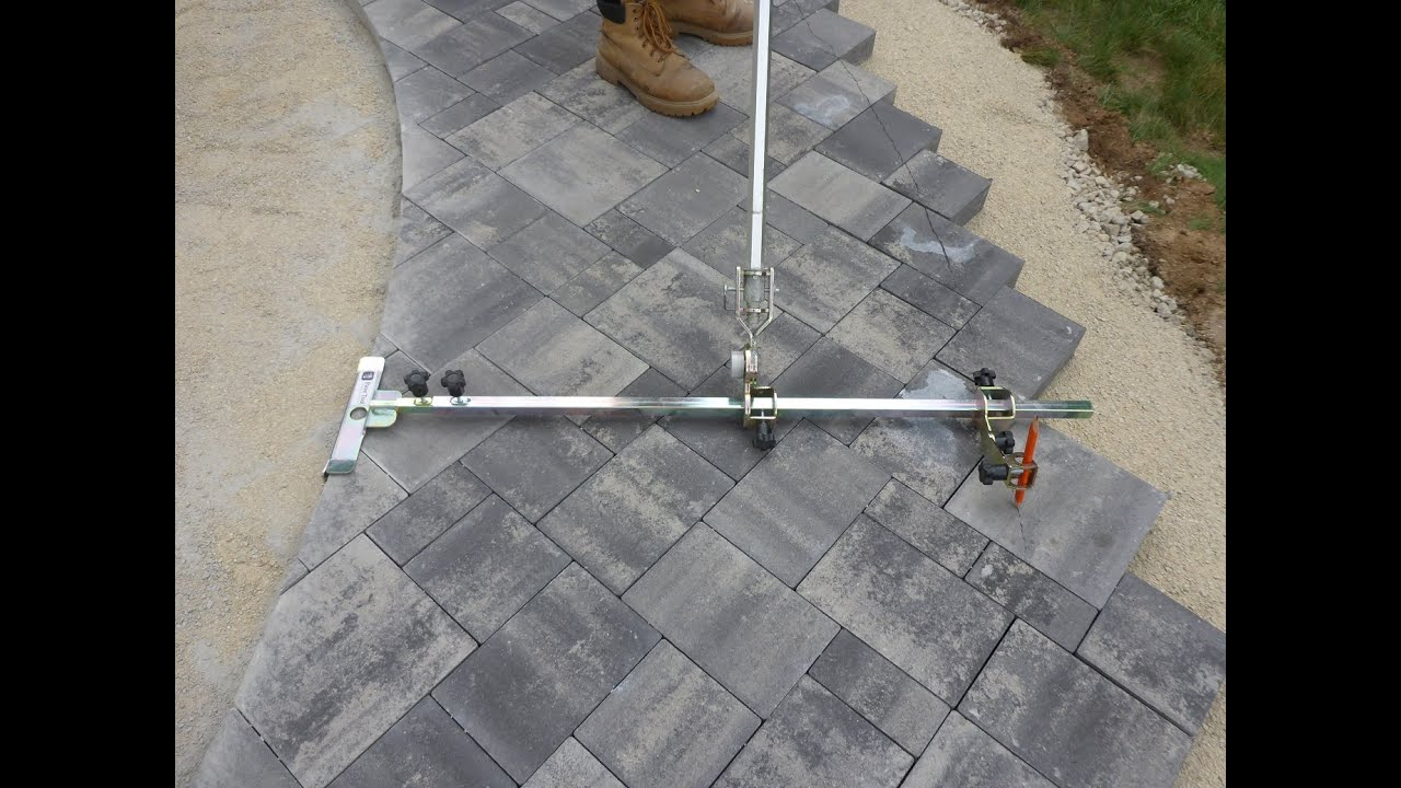 - How To: Easy Way To Mark Paver Walkway For Cutting - YouTube