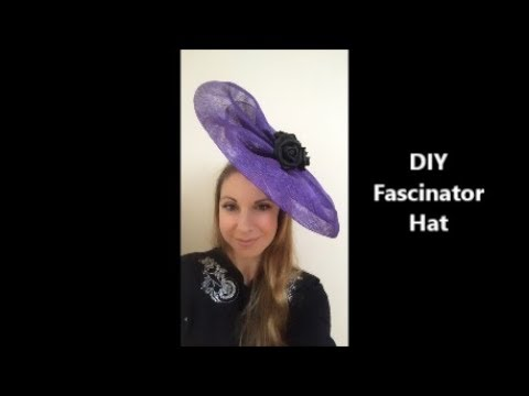 b7f4b8a62 How to make a Sinamay Fascinator base free form without hat block ...