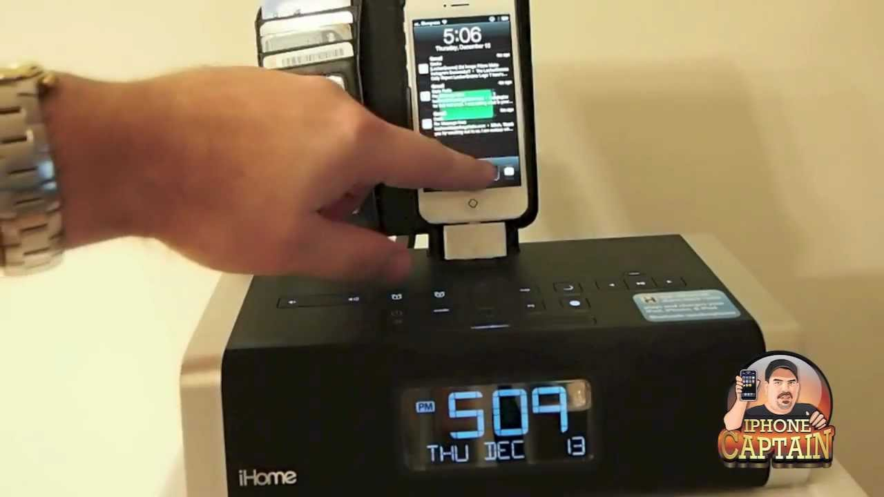 Clock With Iphone  Charger