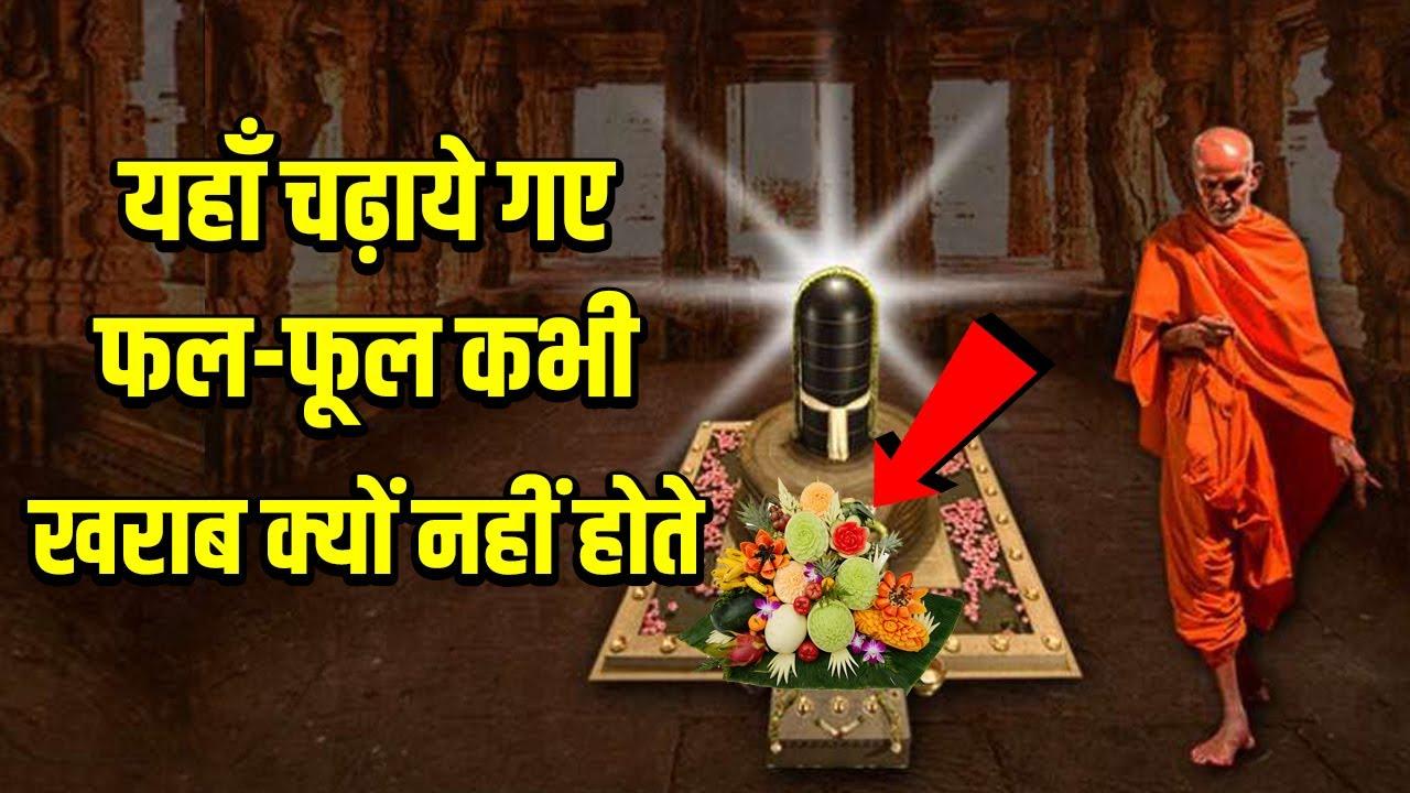 इस मंदिर में चढ़ाये गए फल फूल कभी खराब क्यों नहीं होते है ?