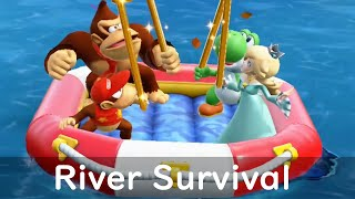 Super Mario Party River Survival - Rosalina with Diddy Kong Yoshi and Donkey Kong