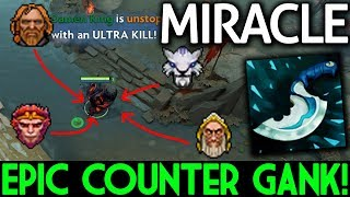 Miracle- Dota 2 [Shadow Fiend] Epic 1v4 Counter Gank!
