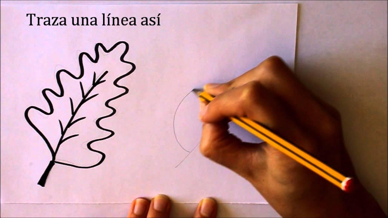 Cómo dibujar Hojas de Otoño Dibuja Conmigo Dibujos de Otoño - YouTube