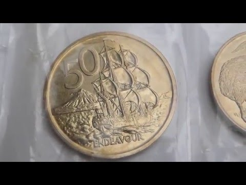 New Zealand coin set 1969 - 200th anniversary Captain Cook's  Voyage