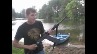 12 Gauge Ak 47 Shotgun, Can the recoil row a boat ???