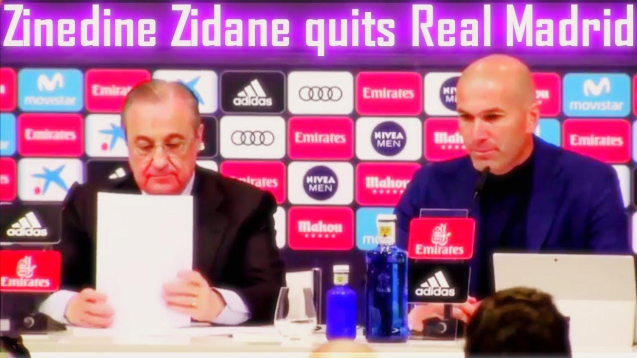 Zidane anuncia su dimision y deja el Real Madrid