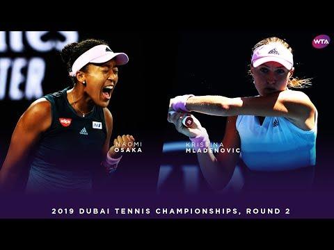 Naomi Osaka vs. Kristina Mladenovic | 2019 Dubai Second Round | WTA Highlights
