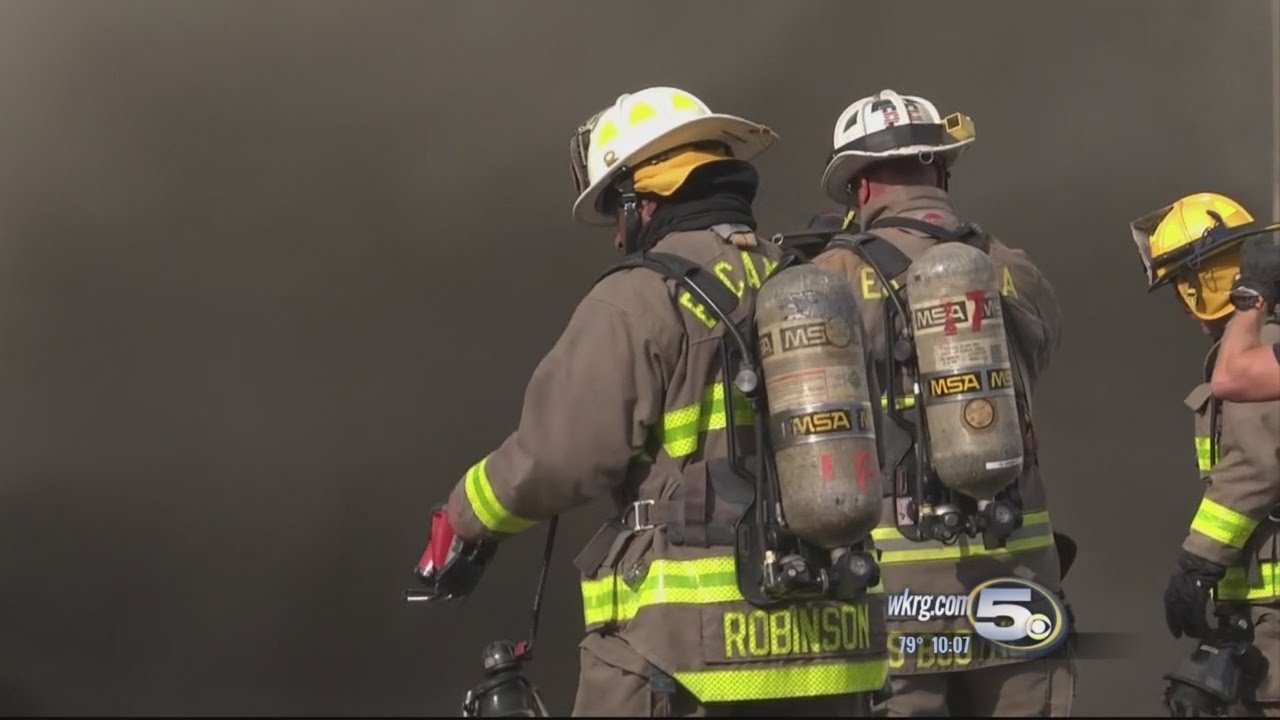 Massive Fire At Pensacola Mattress