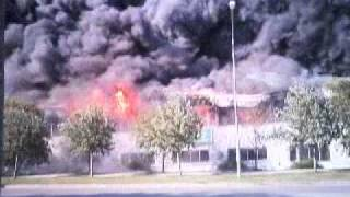 Brand i Lunda Industriområde (Fire in Lunda Industrial Area, Spånga - Stockholm - Sweden)