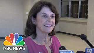 Wisconsin Republican U.S. Senate Hopeful Casts Vote In State Primary | NBC News