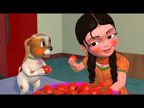 Erra Erra Ṭamato | Ṭelugu Rhymes for Children | Infobells