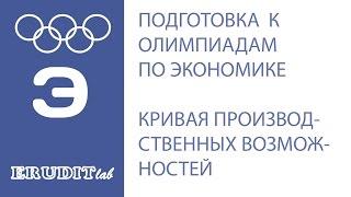 Кривая производственных возможностей (КПВ). Подготовка к олимпиадам по экономике.