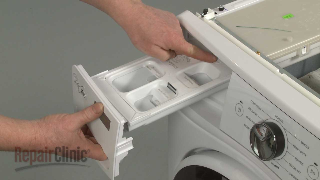 whirlpool alpha front load washer detergent dispenser replacement w10575334 [ 1280 x 720 Pixel ]