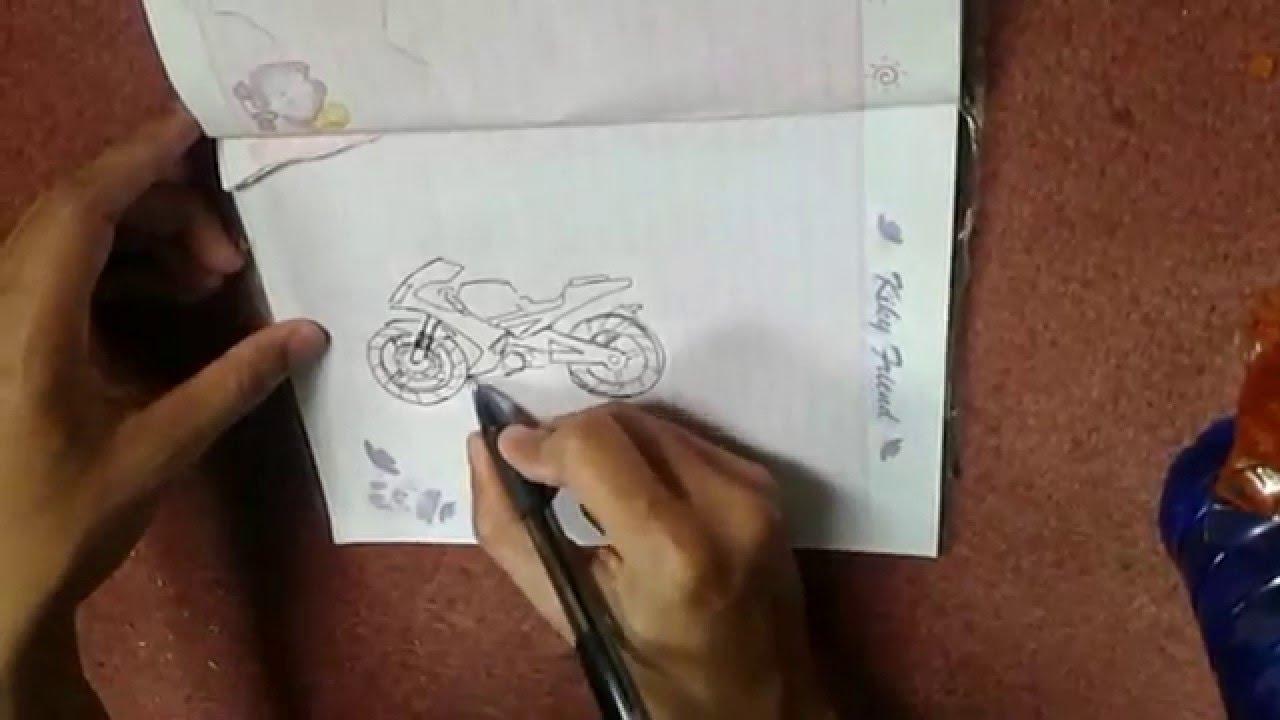 Kumpulan Gambar Sketsa Motor Ninja Drag Terlengkap Stamodifikasi
