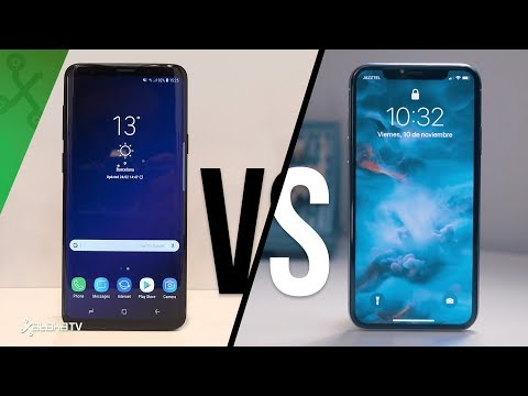 comparar iphone x y samsung s9